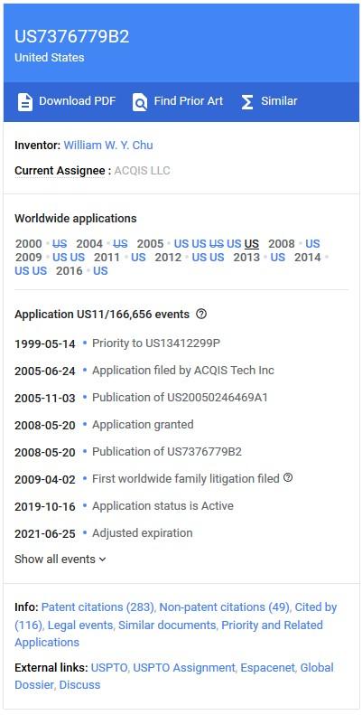 Google Patents Document Data Box