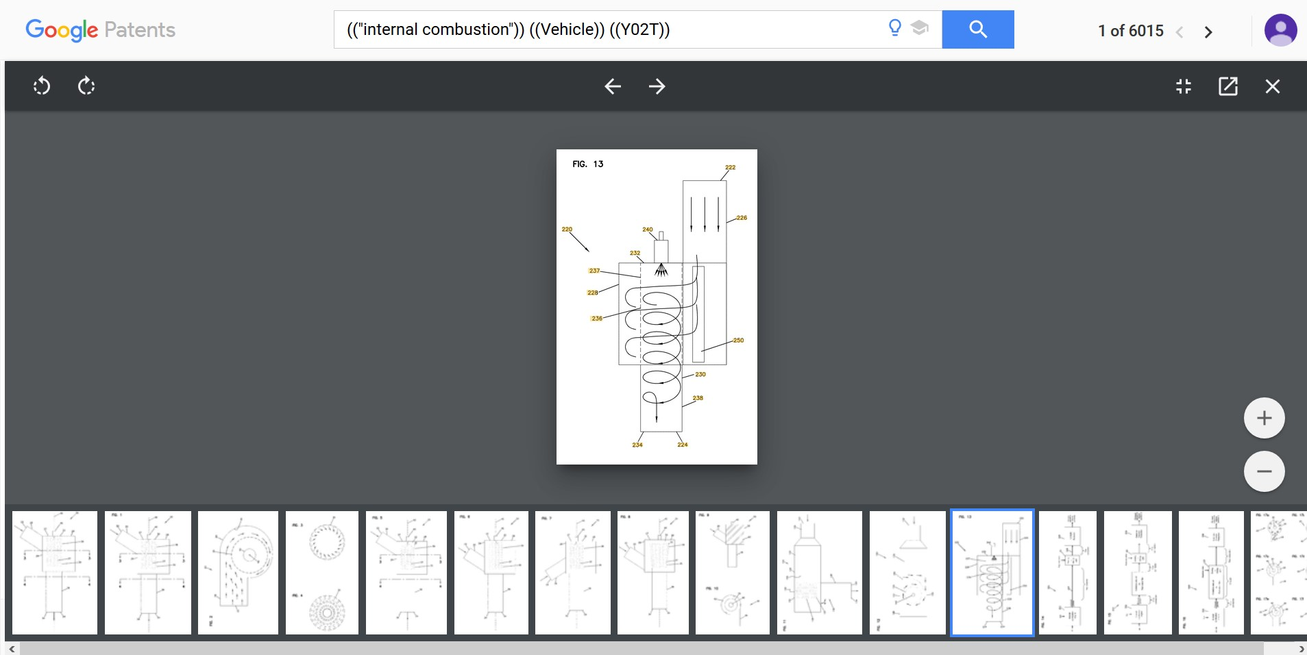 Google Patents Drawing View