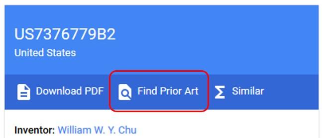 Google Patents Find Prior Art