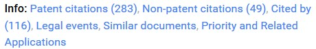 Google Patents Info Section