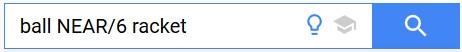 Google Patents NEAR/x Operator
