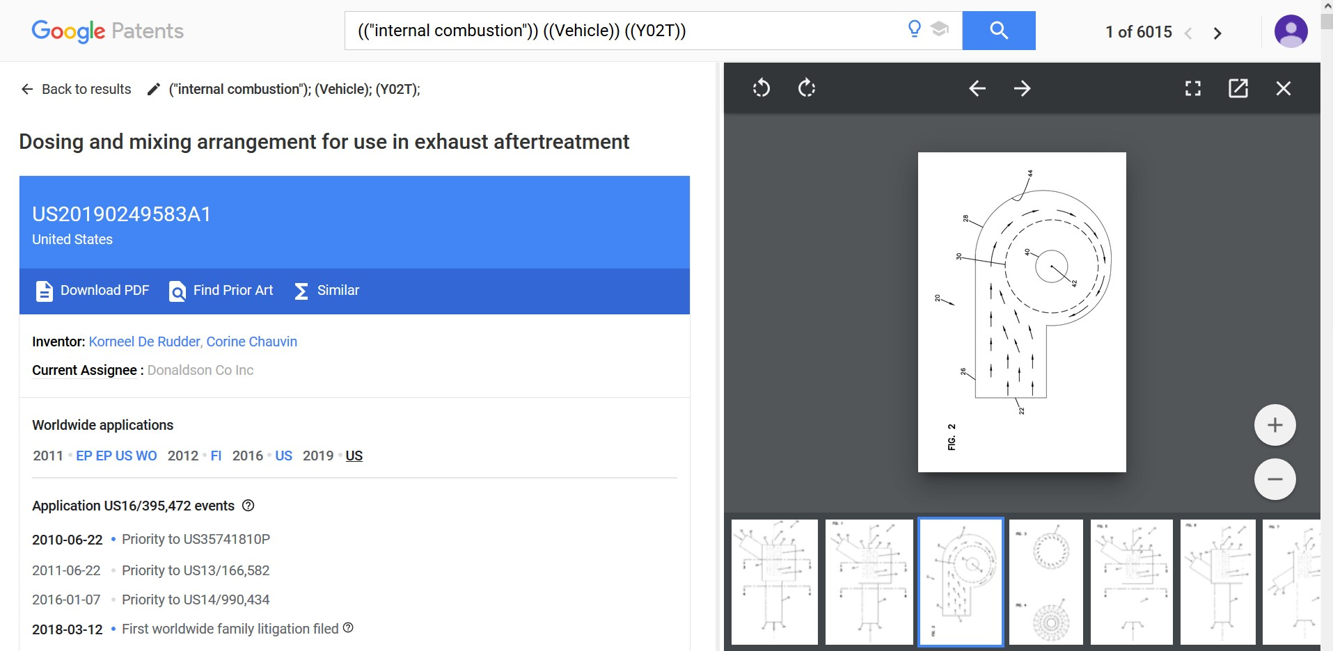 Google Patents Side-By-Side View, Document-Drawings