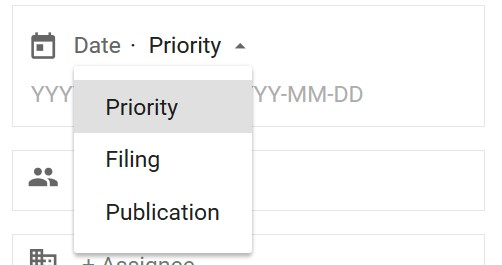 Google Patents Date Type Selector
