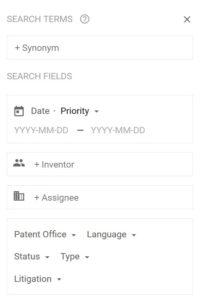Google Patents Search Sidebar