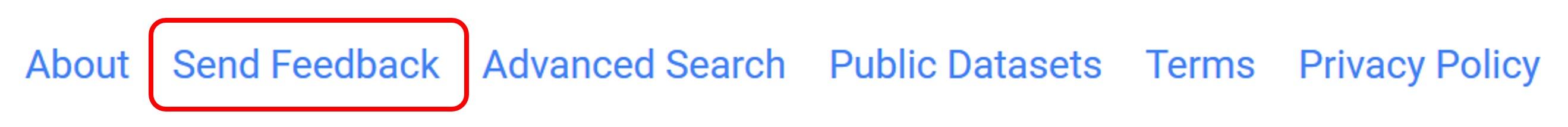 "Google Patents ""Send Feedback"" Link"